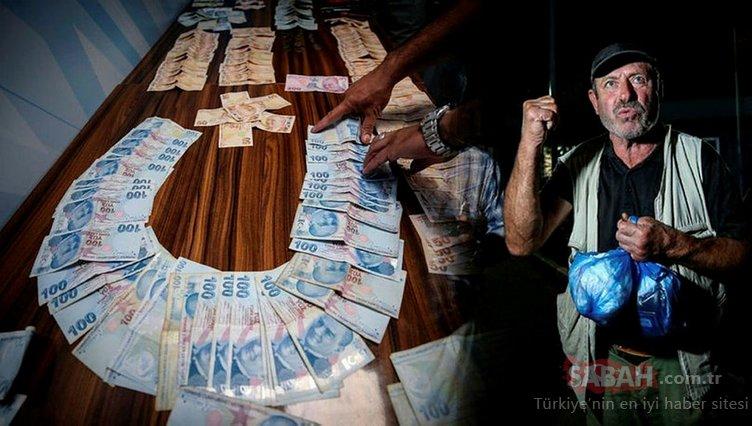 Zabıta ekipleri, dilencinin üzerinden çıkan parayı güçlükle sayabildi. Dilenci 'Ev borcum var' dedi
