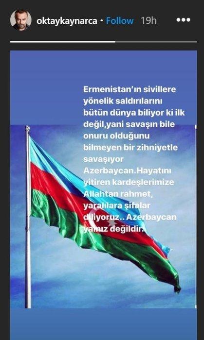 Sanat camiası Azerbaycan'da sivilleri hedef alan alçak saldırı sonrası Ermenistan'a ateş püskürdü! Ünlü isimler bebek katili Ermenistan'a lanet okudu!