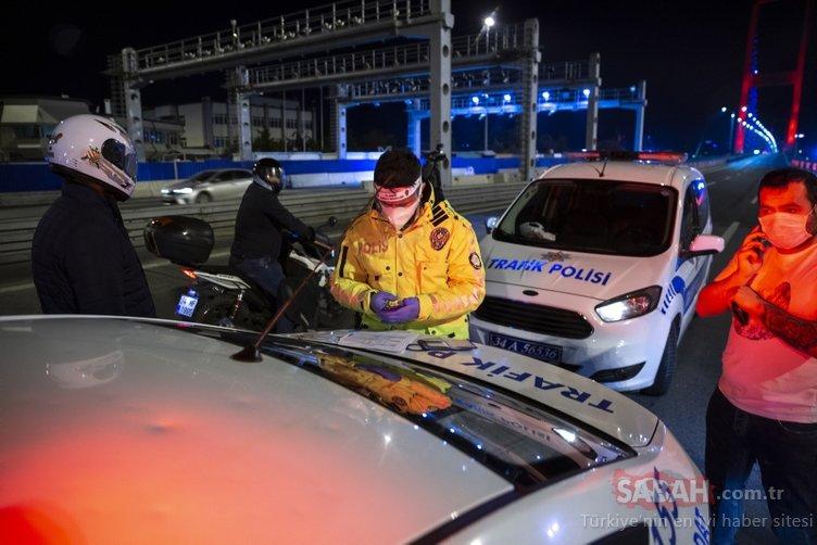 Tek tek ceza kesildi! Sokağa çıkma kısıtlaması ile birlikte polis denetimleri başladı