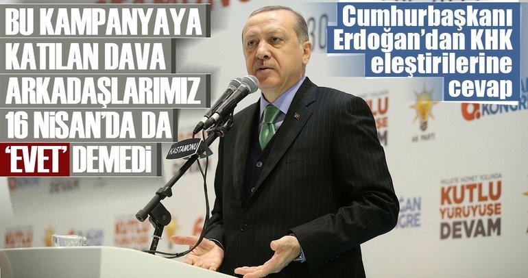 Cumhurbaşkanı Erdoğan'dan KHK eleştirilerine cevap!