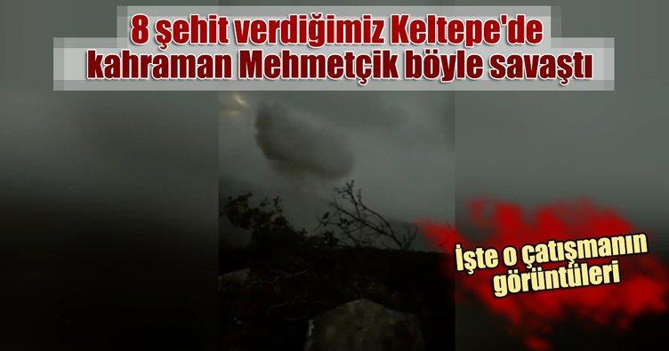 8 şehit verdiğimiz Keltepe'de kahraman Mehmetçik böyle savaştı. İşte o çatışmanın görüntüleri