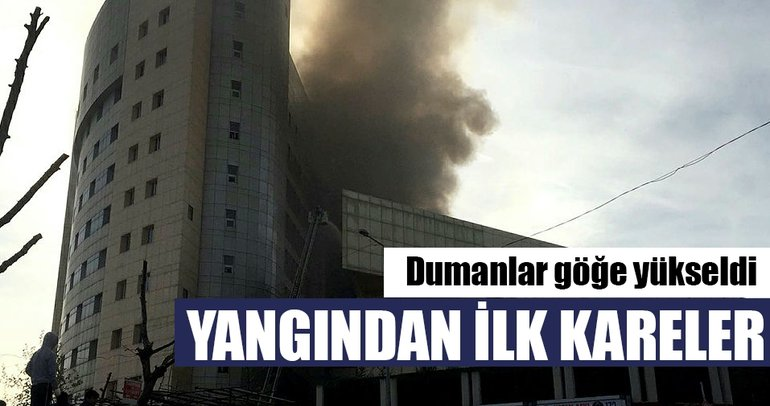 Taksim Eğitim ve Araştırma Hastanesi'ndeki yangından ilk kareler