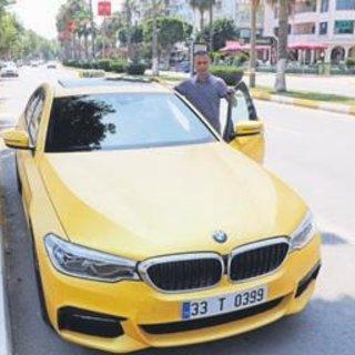 500 bin liralık lüks otomobilden taksi