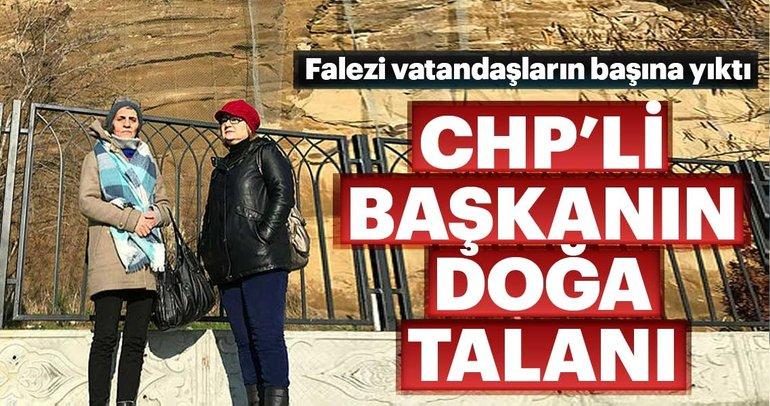 CHP'li başkan Özcan Işıklar falezi başlarına yıktı