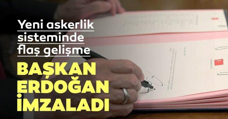 Başkan Erdoğan, Askerlik Kanunu'nu imzaladı