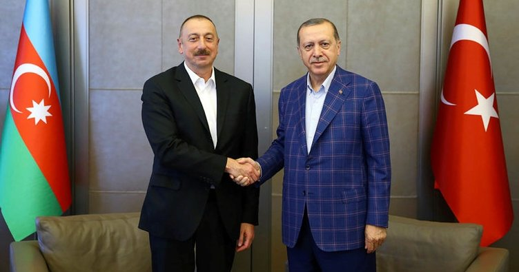 Erdoğan, Azerbaycan Cumhurbaşkanı Aliyev ile görüştü!