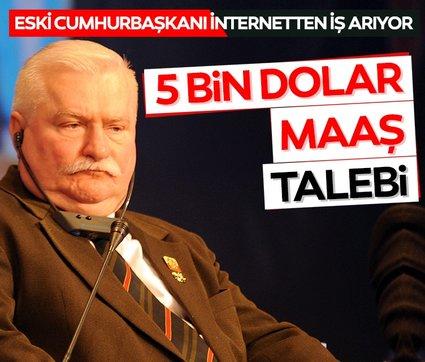 Polonya'nın eski Cumhurbaşkanı eşinin harcamaları nedeniyle internetten iş arıyor!