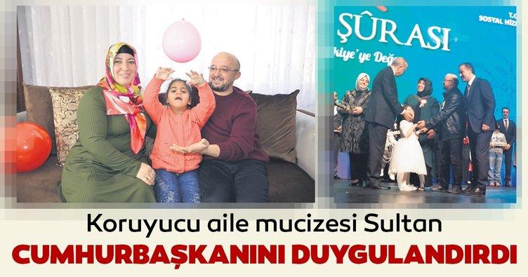 Koruyucu aile mucizesi Sultan Cumhurbaşkanı'nı duygulandırdı