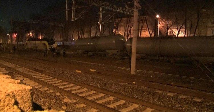 Ankara'da tren vagonları raydan çıktı