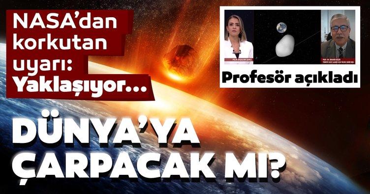 Son dakika haberi | NASA'dan uyarı: Dev asteroid Dünya'ya doğru ilerliyor: Dünya'ya çarpabilir mi? Profesörden açıklama...
