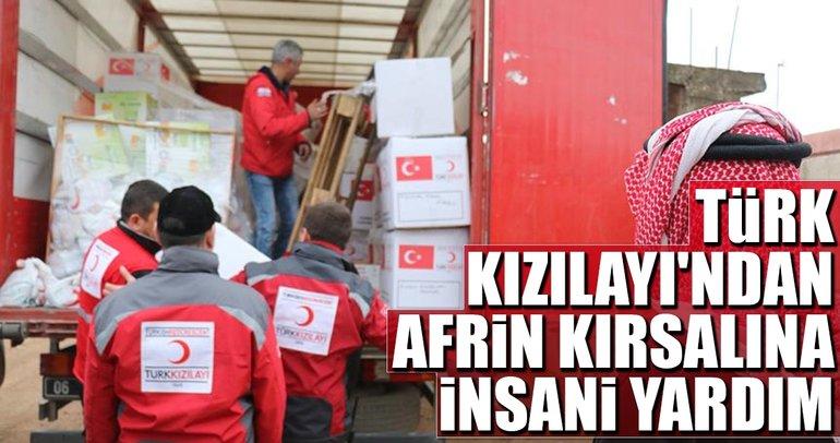 Türk Kızılayı'ndan Afrin kırsalına insani yardım