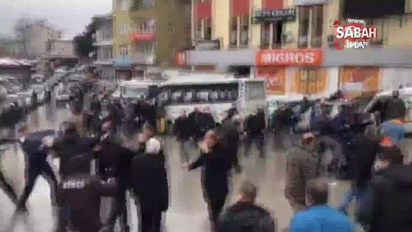Son dakika: Bartın'da tekme ve yumruklar havada uçuştu! Otobüsçülerden meydan kavgası... 11 gözaltı | Video