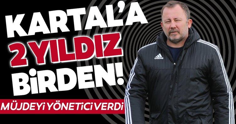 Beşiktaş'a 2 yıldız birden! Yönetici müjdeyi verdi