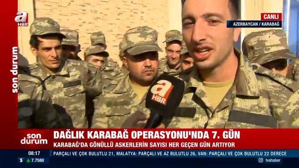 Azerbaycan - Ermenistan cephe hattında canlı yayınla son dakika! Azerbaycan askerleri meydan okudu | Video