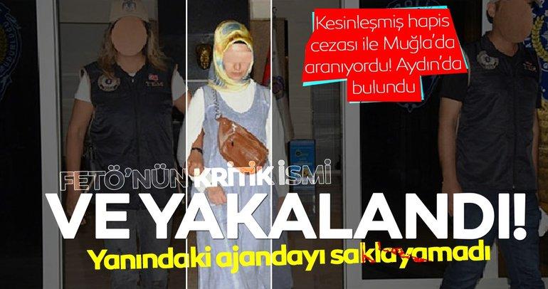 Muğla'da aranan FETÖ zanlısı Aydın'da ajandayla yakalandı