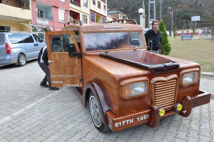 Ahşap otomobil Laz Rover