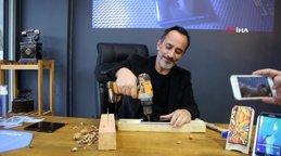 Nano kaplama yaptığı cep telefonunu matkapla delmeye çalışıp ceviz kırdı   Video