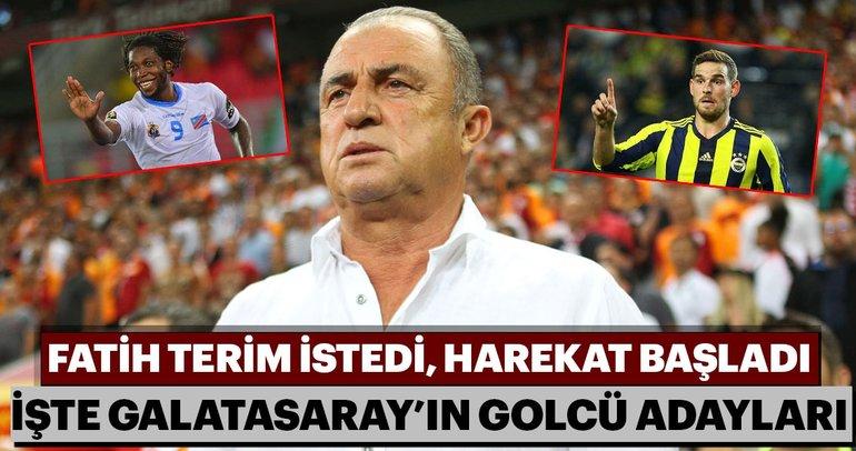 Fatih Terim istedi harekat başladı! İşte Galatasaray'ın santrfor adayları