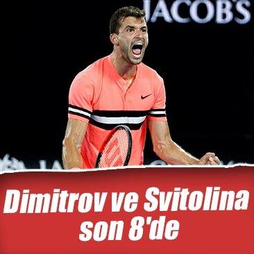 Dimitrov ve Svitolina son 8'de