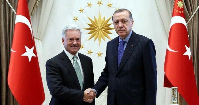 Cumhurbaşkanı Erdoğan Duncan'ı kabul etti