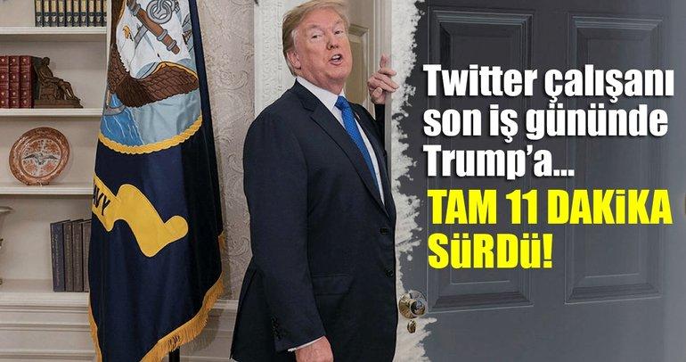 Son dakika: Trump'ın Twitter hesabı bilerek kapatıldı