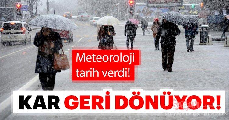 Meteoroloji'den son dakika hava durumu ve kar yağışı uyarısı geldi! Kar geliyor!