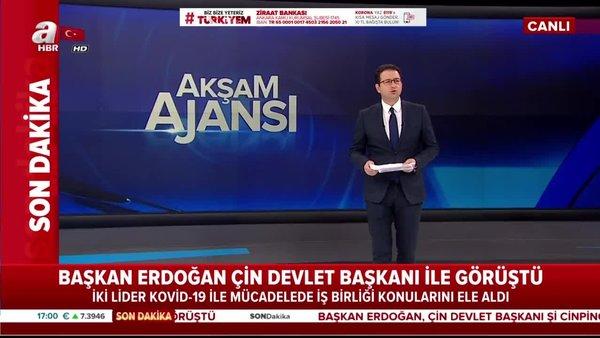 Cumhurbaşkanı Erdoğan'dan Çin Devlet Başkanı Şi Cinping ile corona virüsü konusunda flaş görüşme | Video