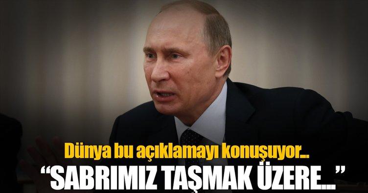 Kremlin: Sabrımız taşmak üzere