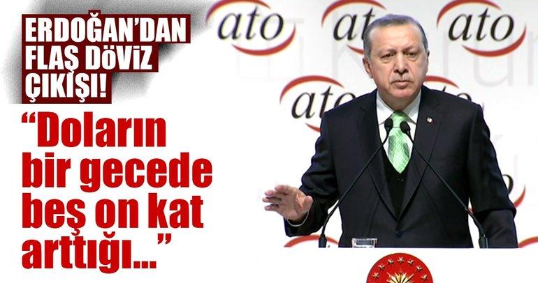Cumhurbaşkanı Erdoğan'dan flaş faiz ve döviz açıklaması!