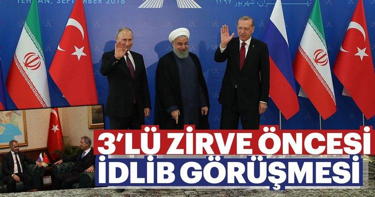 3'lü zirve öncesi İdlib görüşmesi