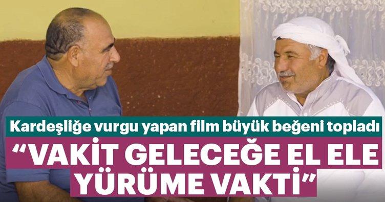 Biz birlikte güçlü, birlikte Türkiye'yiz temalı film büyük beğeni aldı