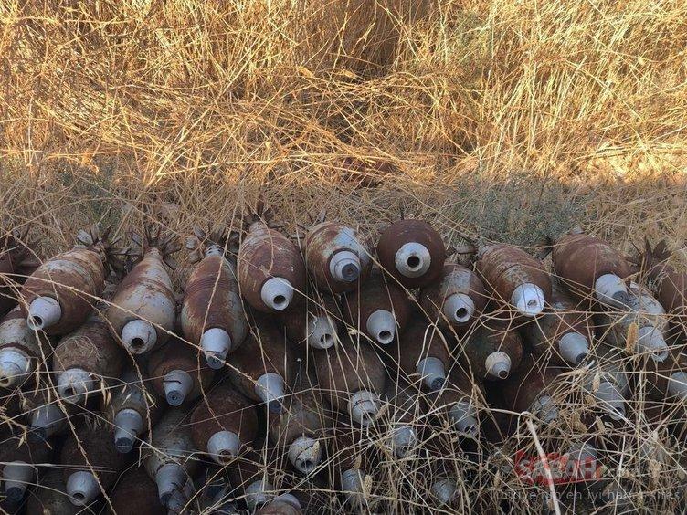 Son Dakika: MSB duyurdu! Tel Abyad'da PKK/YPG'li teröristlere ait 285 ağır silah mühimmatı ele geçirildi