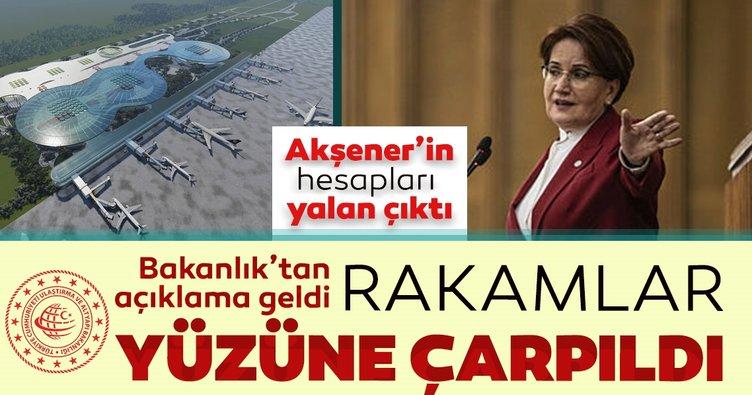 Ulaştırma ve Altyapı Bakanlığından Çukurova Havalimanı açıklaması