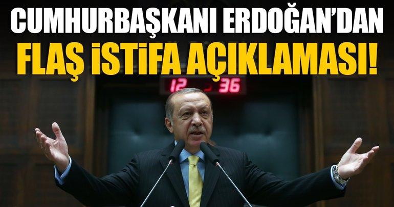 Son Dakika! Cumhurbaşkanı Erdoğan: İstifa davada sorun olarak görülmemeli