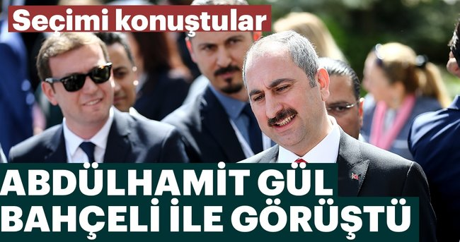 Son dakika: Adalet Bakanı Gül Devlet Bahçeli ile görüştü
