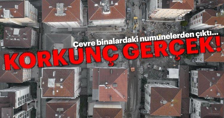 Son dakika haberi: Kartal'da çöken binanın çevresindeki binalardan alınan numunelerde çıkanlar şoke etti!