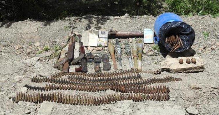 Hakkari'de PKK'ya ait uçaksavar mühimmatı veroketatarele geçirildi