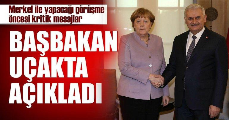 Son Dakika Haberi: Başbakan Binali Yıldırımdan Merkele kritik mesajlar
