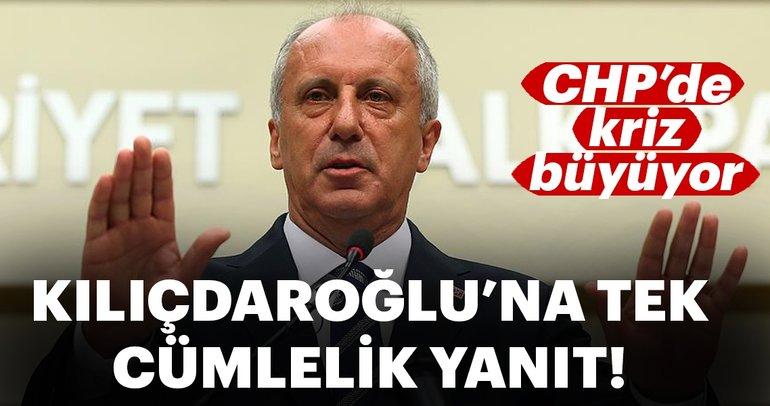 Muharrem İnce'den Kemal Kılıçdaroğlu'na tek cümlelik yanıt