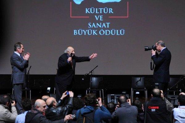 Erdoğan Ara Güler'in fotoğrafını çekti
