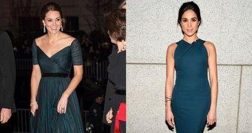 Kate Middleton ile Meghan Markle'ın stil benzerliğİ