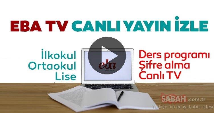 TRT EBA TV canlı izle! 25 Mart TRT EBA TV ilkokul, ortaokul, lise uzaktan eğitim dersleri canlı yayın izle ve frekans ayarları yapma