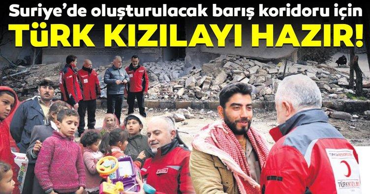 Türk Kızılayı Suriye'de barış koridoru için hazır