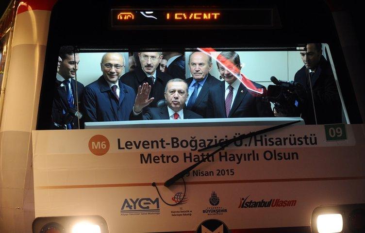 Levent-Hisarüstü metrosu açıldı