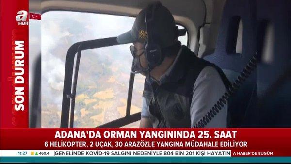 Adana'da saatler süren orman yangınına müdahale devam ediyor!    Video