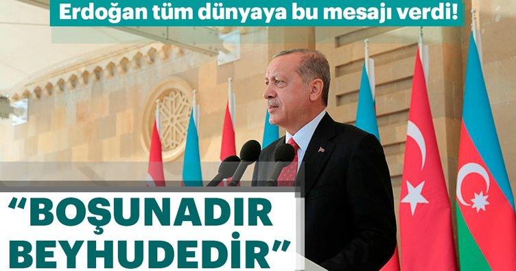 Son dakika: Başkan Erdoğan'dan Yukarı Karabağ mesajı
