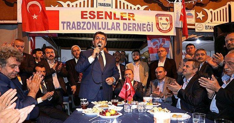 Trabzonlular Tevfik Göksu'ya sahip çıktı