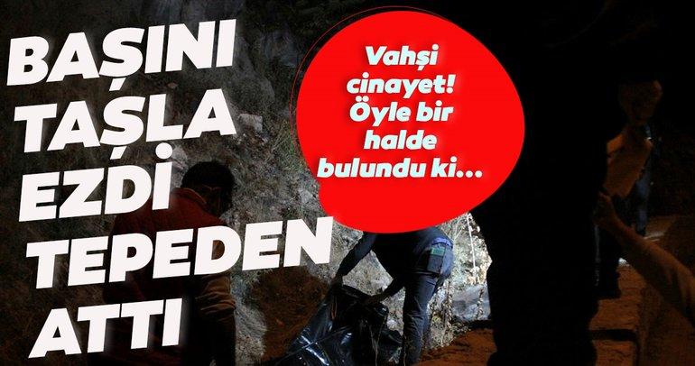Son dakika: Kayseri'de vahşi cinayet! Başını taşla ezip tepeden attı, sonra da...