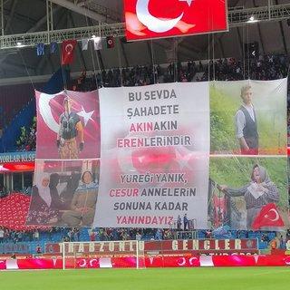 Trabzonspor'dan anlamlı koreografi! Şehitlerimizi unutmadılar