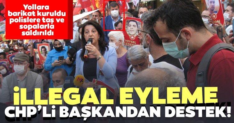 Son dakika haberi: Yollara barikat kuruldu! Polislere taş ve sopalarla saldırıldı! İllegal eyleme CHP'li başkandan destek
